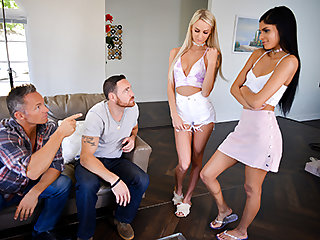 Emma Hix  Katya Rodriguez in The Suggestive Swap - DaughterSwap